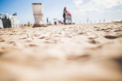 Group of People Cleaning the Seashore Low Angle Photography Royalty Free Stock Image