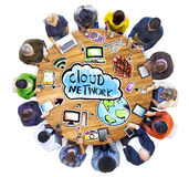 Group of People with Cloud Network Concept Royalty Free Stock Images