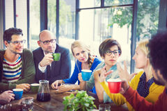 Group of People on Coffee Break Royalty Free Stock Images