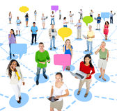 Group of People with Communication Concepts Royalty Free Stock Photography