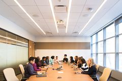 Group of People in Conference Room royalty free stock photos