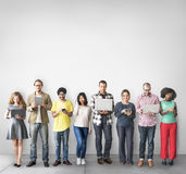 Group of People Connection Digital Device Concept Royalty Free Stock Photo