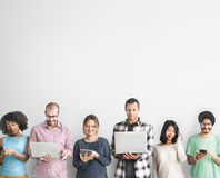Group of People Connection Digital Device Concept Stock Photography