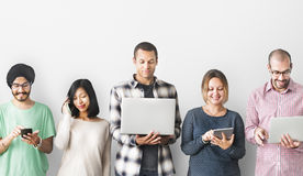 Group of People Connection Digital Device Concept.  Royalty Free Stock Image