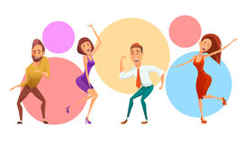 Group of people on corporate party vector illustration