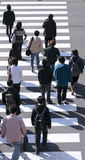 Group of people crossing the street Royalty Free Stock Image