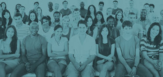 Group People Crowd Audience Casual Sitting Concept.  royalty free stock photos