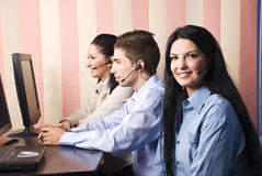 Group people of customers service representative royalty free stock images
