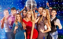 Group people dancing at party. Royalty Free Stock Photos
