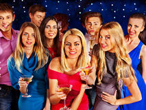 Group people dancing at party. Stock Photography