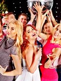 Group people dancing at party. Royalty Free Stock Image
