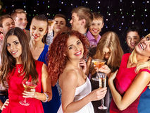 Group people dancing at party Royalty Free Stock Photography