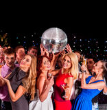 Group people dancing at party Royalty Free Stock Photo