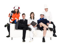 Group of people with different occupation Royalty Free Stock Image