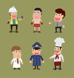 Group of People in different Occupation Royalty Free Stock Image