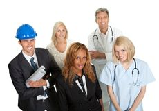 Group of people in different professions Royalty Free Stock Photography