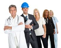 Group of people in different professions Stock Image