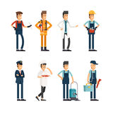 Group of people of different professions Stock Photography