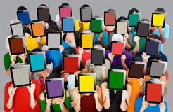 Group of People Digital Tablet Networking Technology Concept Stock Photos