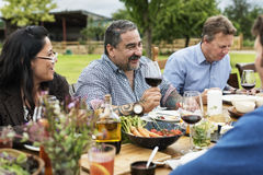 Group Of People Dining Concept stock image