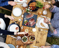 Group Of People Dining Concept stock photography