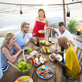 Group Of People Dining Concept. Group Of People Dining Celebrate Party royalty free stock images