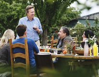 Group Of People Dining Concept Royalty Free Stock Photos