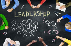 Group of People Discussing About Leadership.  Stock Images