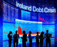 Group of People Discussion about Ireland Debt Crisis Royalty Free Stock Image