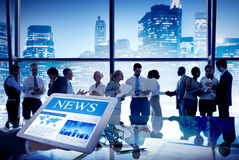Group of People Discussion in Meeting News Royalty Free Stock Images