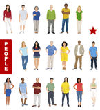 Group of People with Diverse People Concepts Stock Images