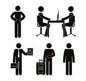 Group of people doing different activities. Vector illustration design Stock Photo