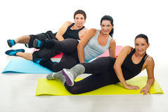 Group of people doing exercises Stock Images