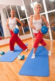 Group of people doing fitness exercise Royalty Free Stock Photo