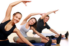 Group of People Doing Fitness Exercises Royalty Free Stock Photography
