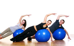 Group of People Doing Fitness Exercises Royalty Free Stock Photos