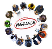 Group of People Doing Research Stock Photography