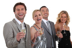 Group of people drinking champagne Stock Photography