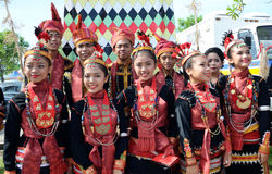 Group of people from Dusun Lotud ethnic in Borneo Royalty Free Stock Photos