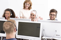 Group of people during e-learning classes Stock Photos