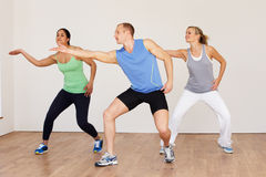 Group Of People Exercising In Dance Studio Royalty Free Stock Photography