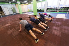 Group of people exercising in gym Royalty Free Stock Images