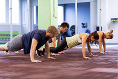 Group of people exercising in gym Stock Photography