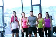 Group of people exercising at the gym Stock Image