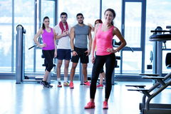 Group of people exercising at the gym Royalty Free Stock Images