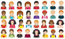 Group of people without faces Royalty Free Stock Image