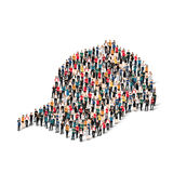 Group  people  form  cap vector Stock Photography