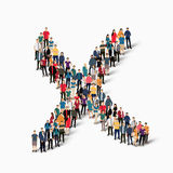 Group  people form  checkmark Royalty Free Stock Photos