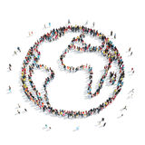 Group  people  form  Earth Stock Images