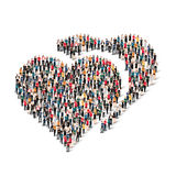 Group  people  form  heart  love Stock Images